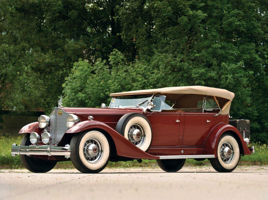 1933 Packard Twelve Sport Phaeton 1005-641 luxury retro  g wallpaper
