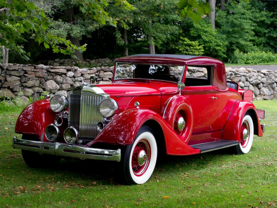 1934 Packard Eight Coupe 1101-718 luxury retro  g wallpaper