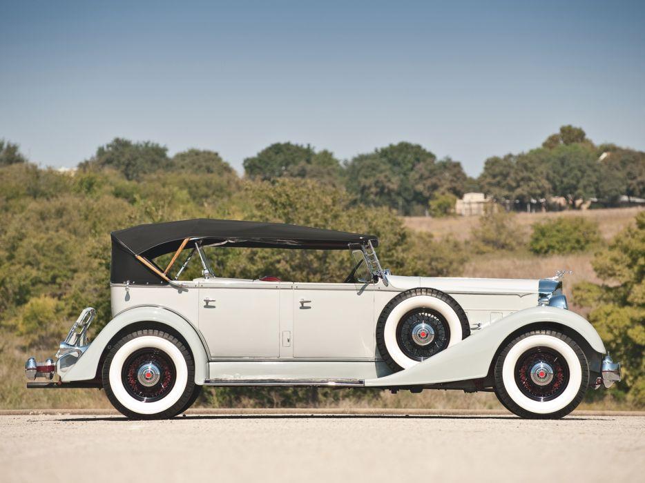 1934 Packard Eight Dual Cowl Sport Phaeton 1101 luxury retro  g wallpaper