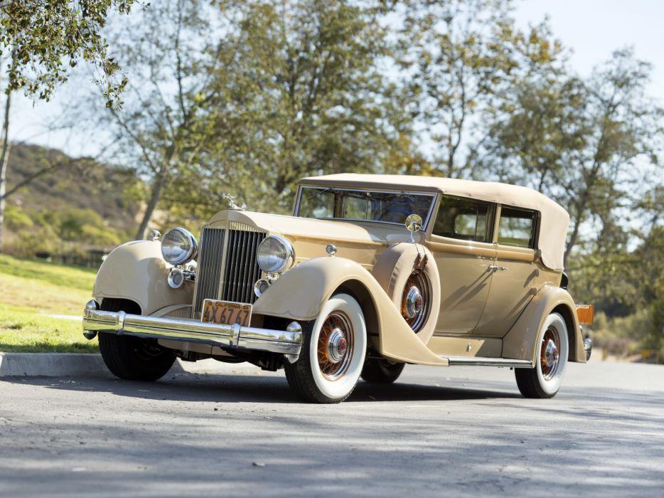 1934 Packard Twelve Convertible Sedan 1107-743 luxury retro  g wallpaper
