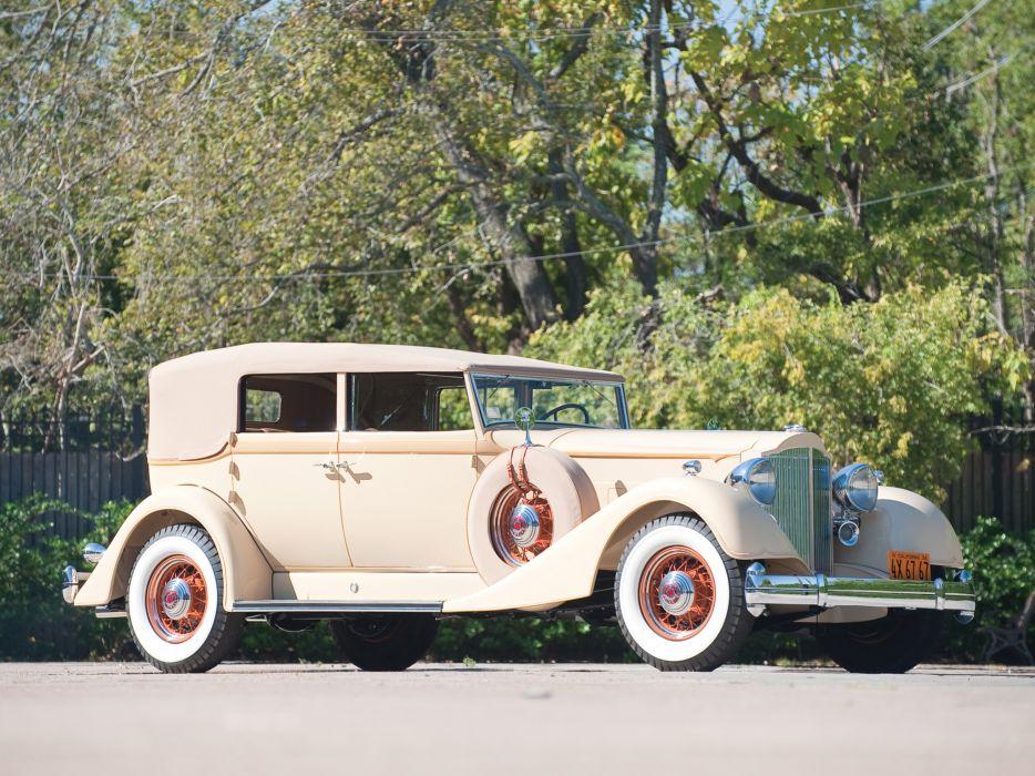 1934 Packard Twelve Convertible Sedan 1107-743 luxury retro wallpaper