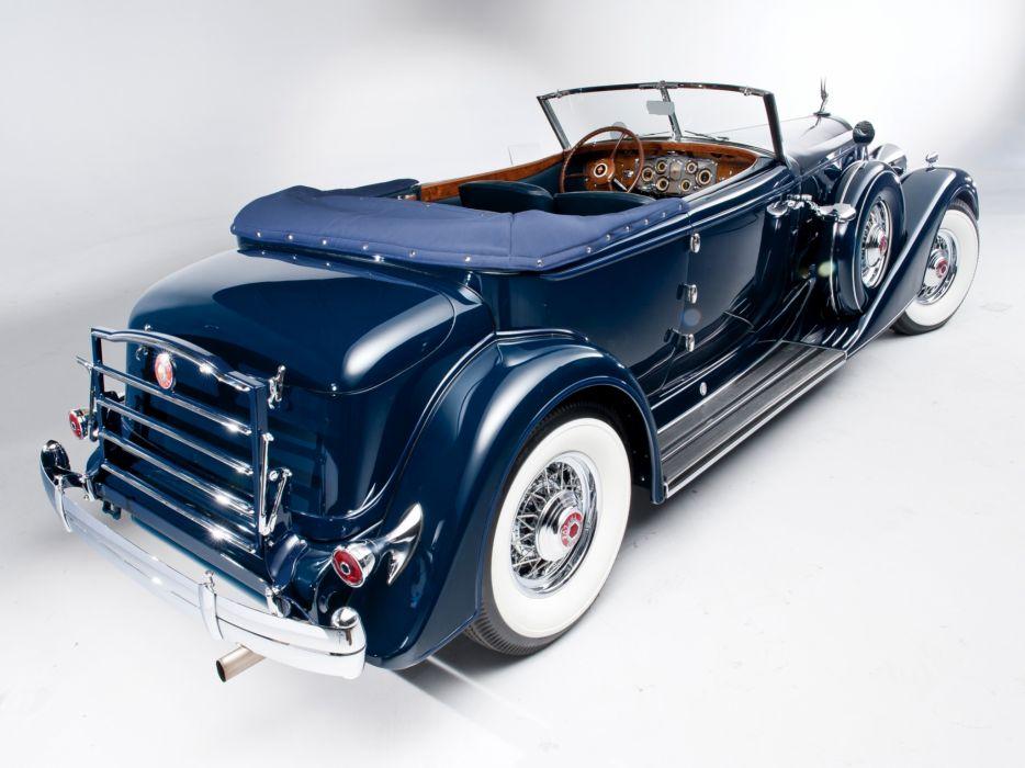 1934 Packard Twelve Convertible Victoria Dietrich luxury retro      g wallpaper