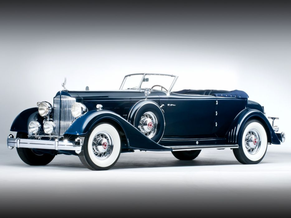 1934 Packard Twelve Convertible Victoria Dietrich luxury retro   f wallpaper