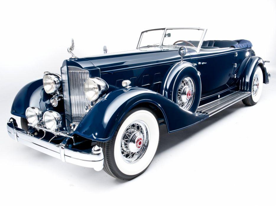 1934 Packard Twelve Convertible Victoria Dietrich luxury retro  fg wallpaper