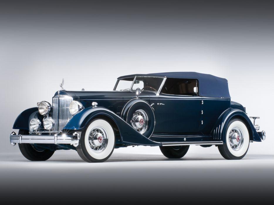 1934 Packard Twelve Convertible Victoria Dietrich luxury retro f wallpaper
