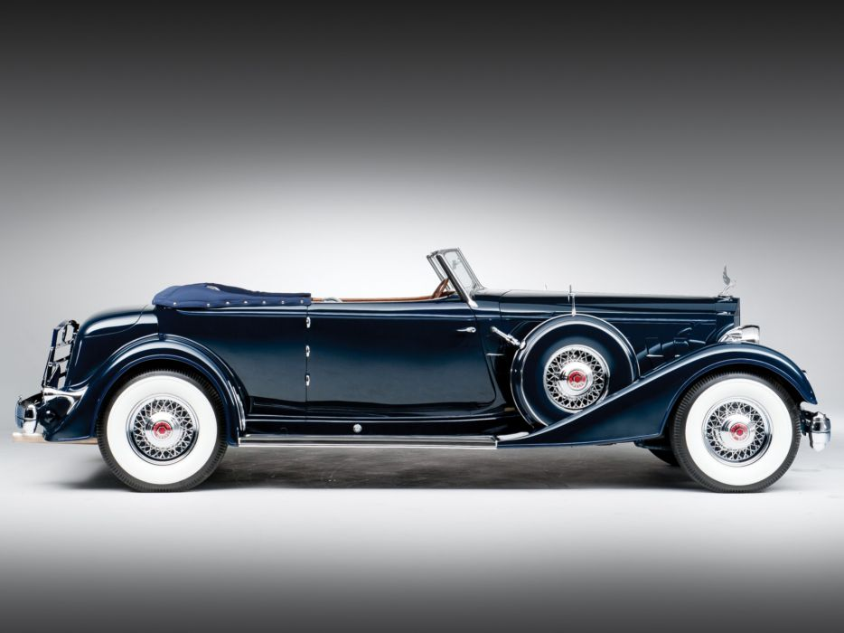 1934 Packard Twelve Convertible Victoria Dietrich luxury retro g wallpaper