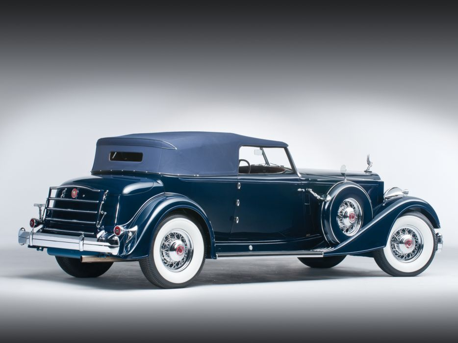 1934 Packard Twelve Convertible Victoria Dietrich luxury retro wallpaper