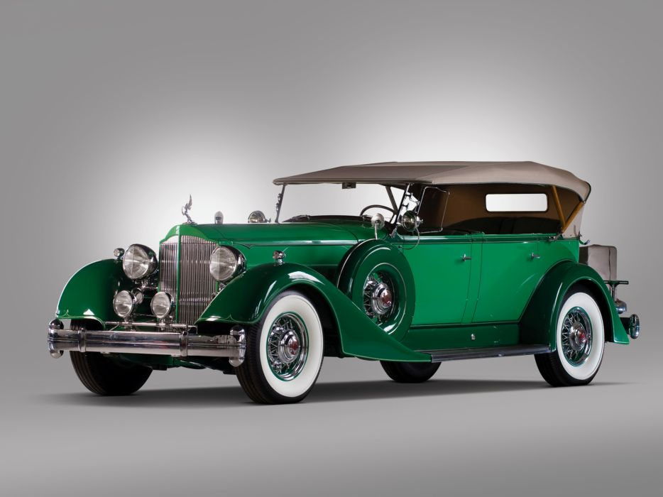 1934 Packard Twelve Phaeton 1107-731 luxury retro  df wallpaper