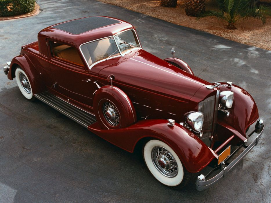 1934 Packard Twelve Sport Coupe Dietrich luxury retro   d wallpaper