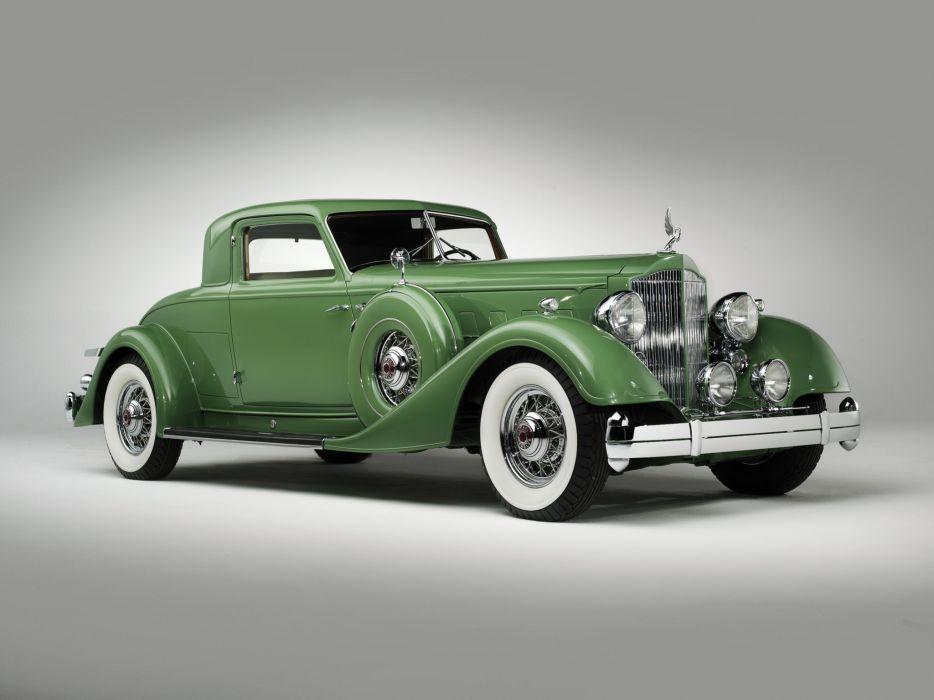 1934 Packard Twelve Sport Coupe Dietrich luxury retro wallpaper