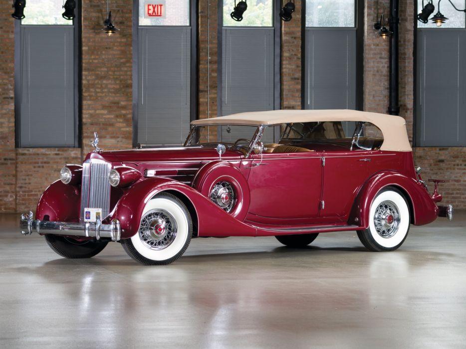 1935 Packard Twelve Dual Cowl Sport Phaeton Dietrich 1207-821 luxury retro wallpaper