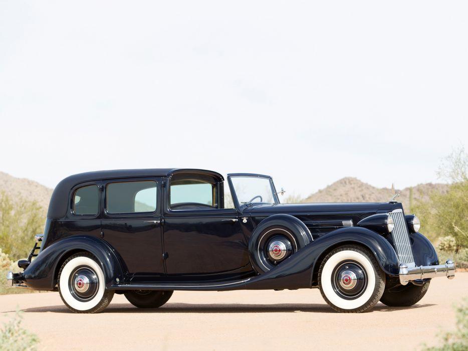 1936 Packard Twelve All-Weather Town Car LeBaron 1408 luxury retro wallpaper