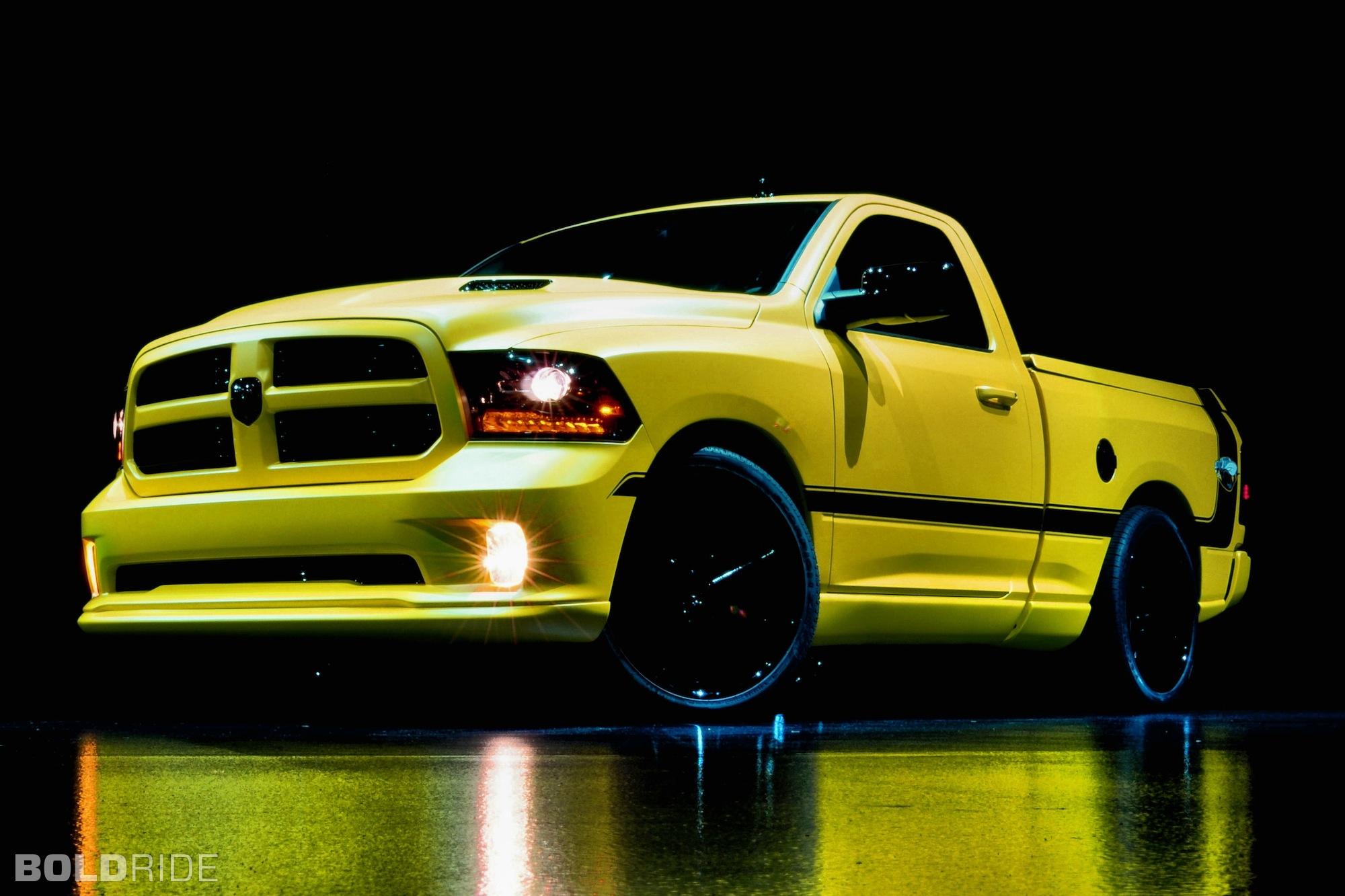 2013 Dodge Ram 1500 Rumble Bee Muscle Concept Pickup Wallpaper 2000x1333 135480 Wallpaperup