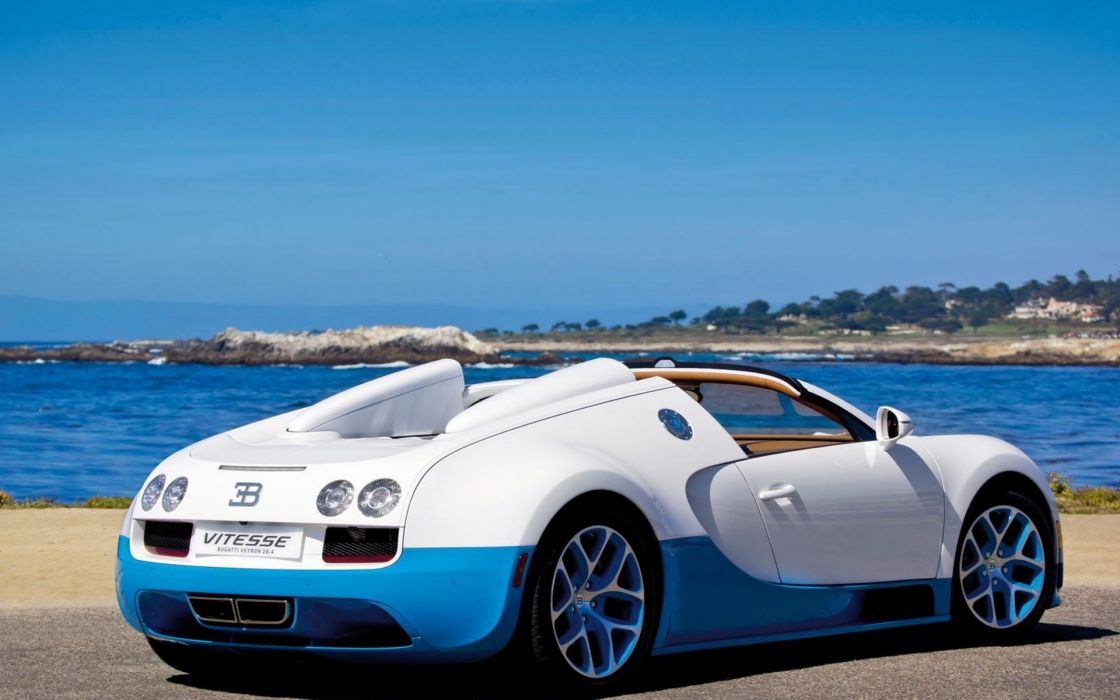 Bugatti Veyron Vehicles Cars Lake Water Wallpaper