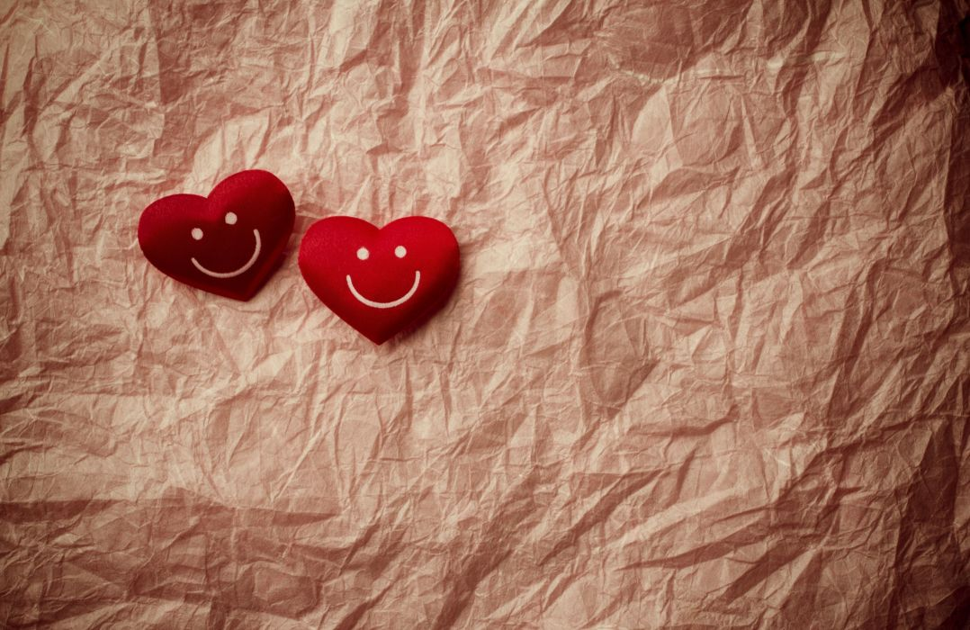 smile hearts heart mood bokeh wallpaper