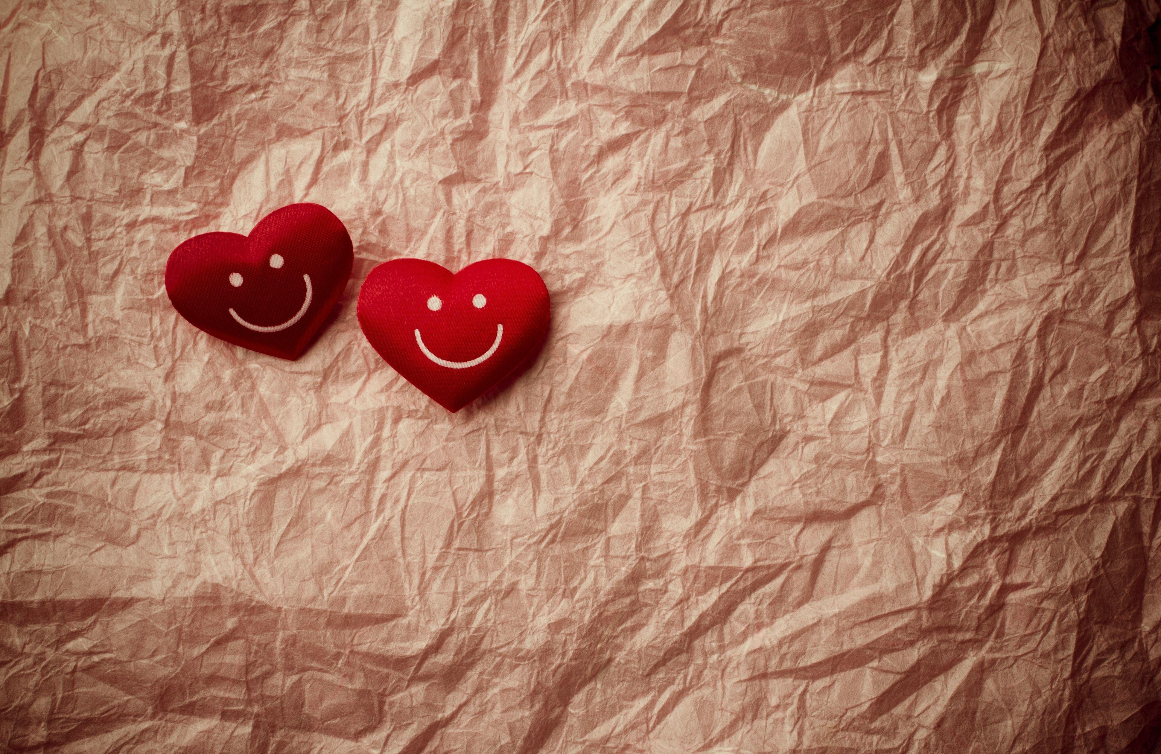 Smile Hearts Heart Mood Bokeh Wallpaper