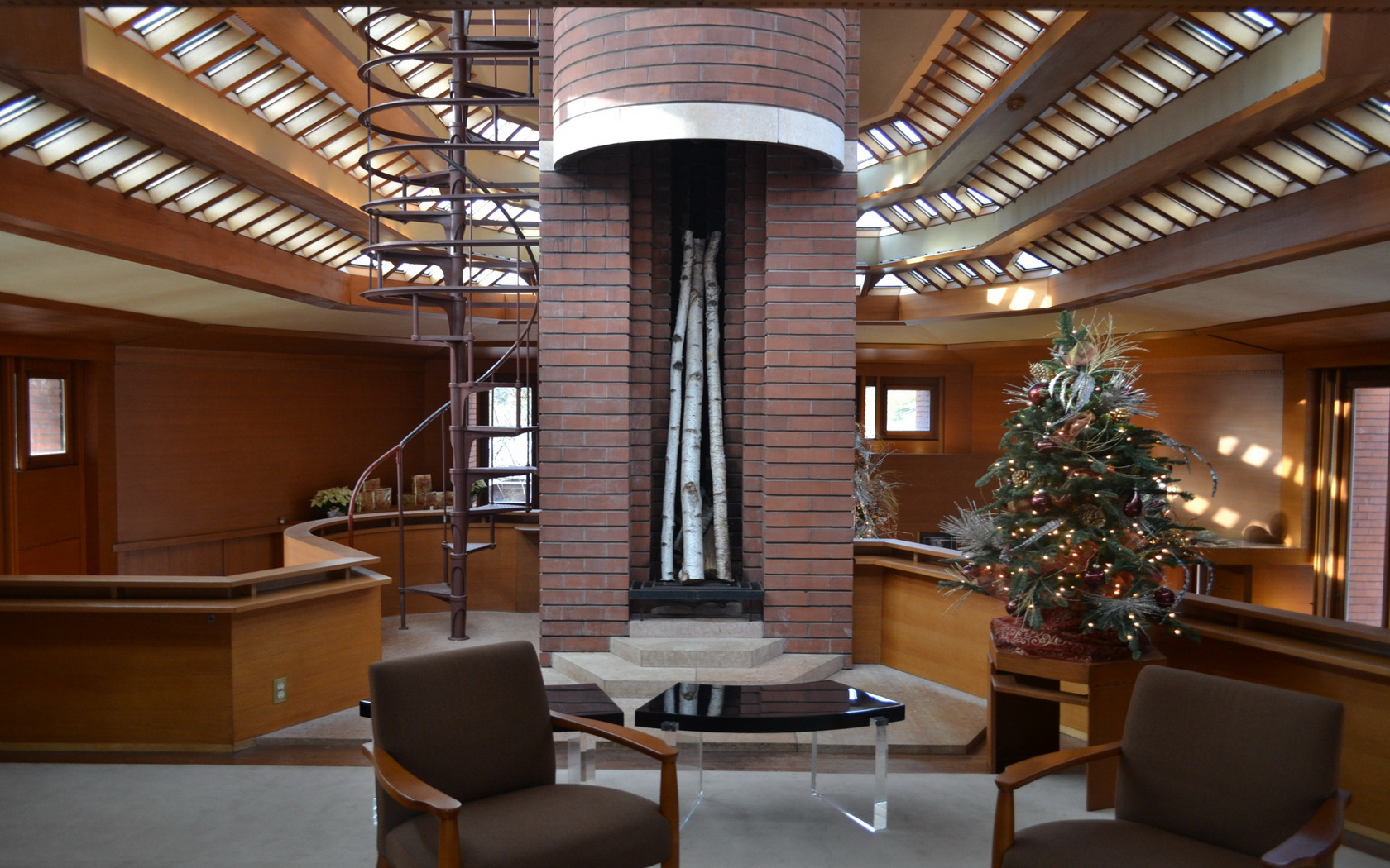 Architecture Indoors Interior Design Frank Lloyd Wright Wallpaper