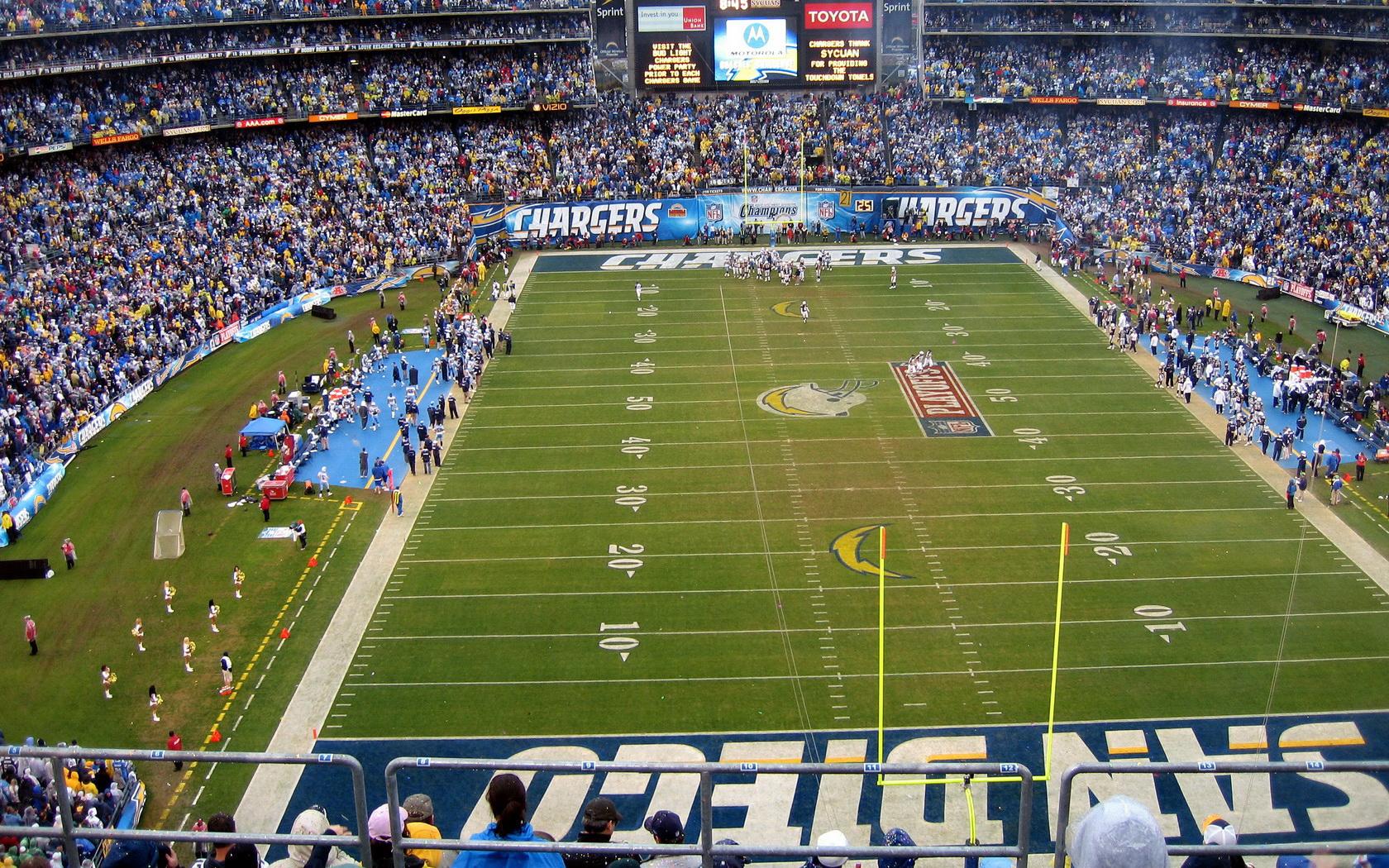 Stadium Nfl San Diego Chargers American Football People