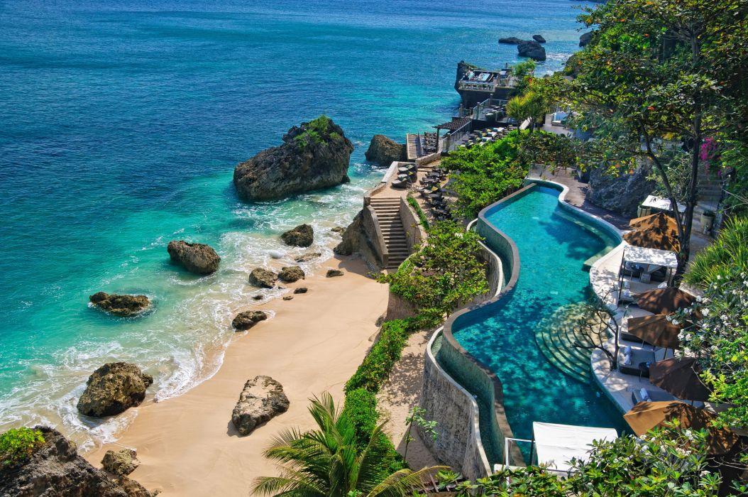 coast indonesia nature bali pools wallpaper