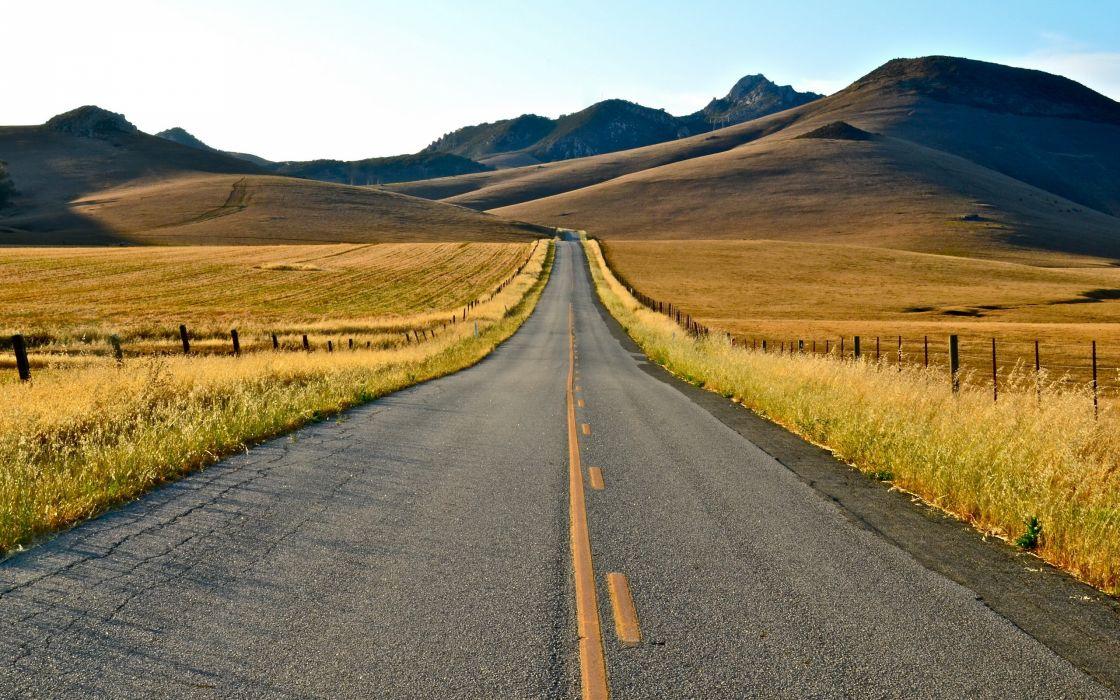 road landscape summer wallpaper