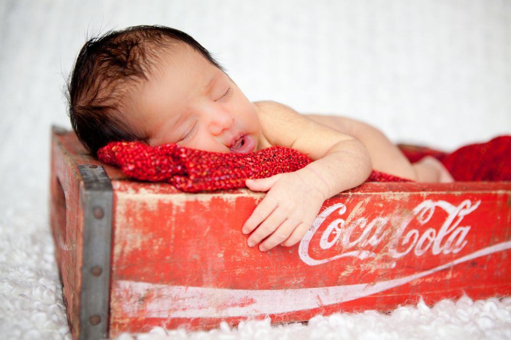 baby box sleep Coca-Cola wallpaper
