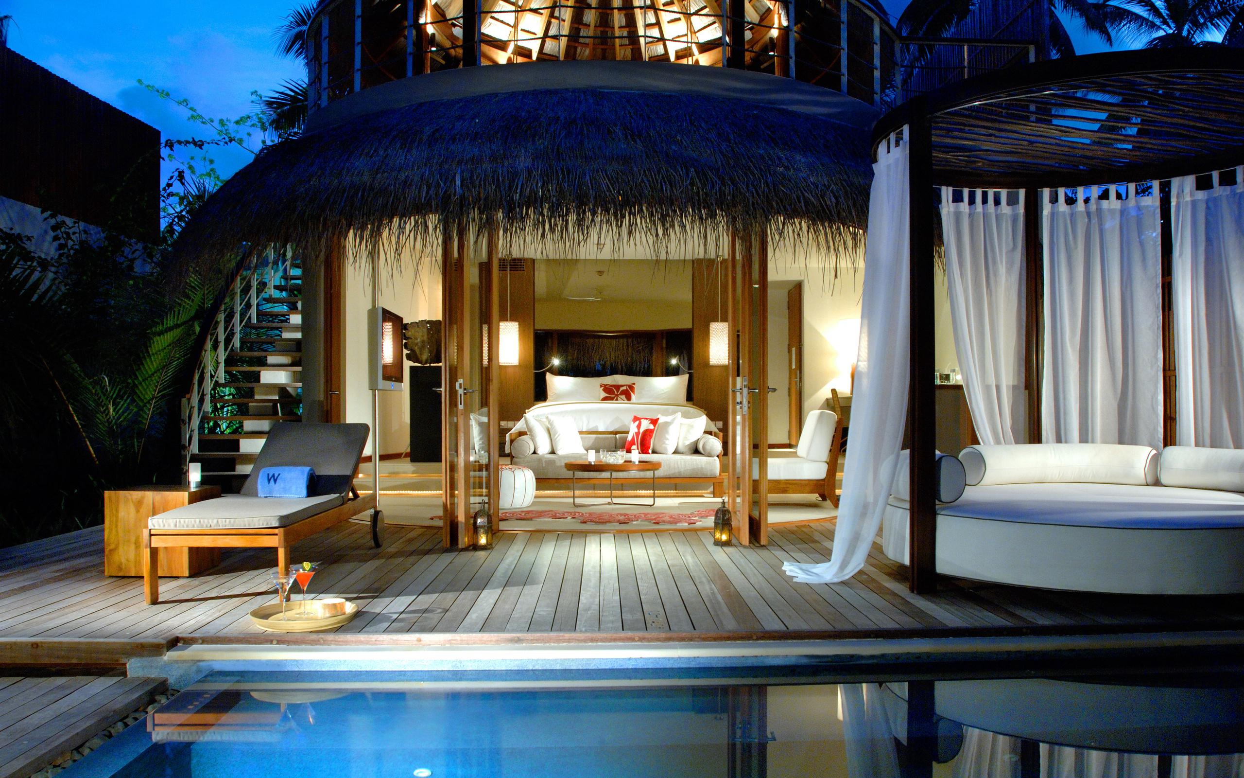 Bedroom Pool House Bungalow Cottage Maldives Design