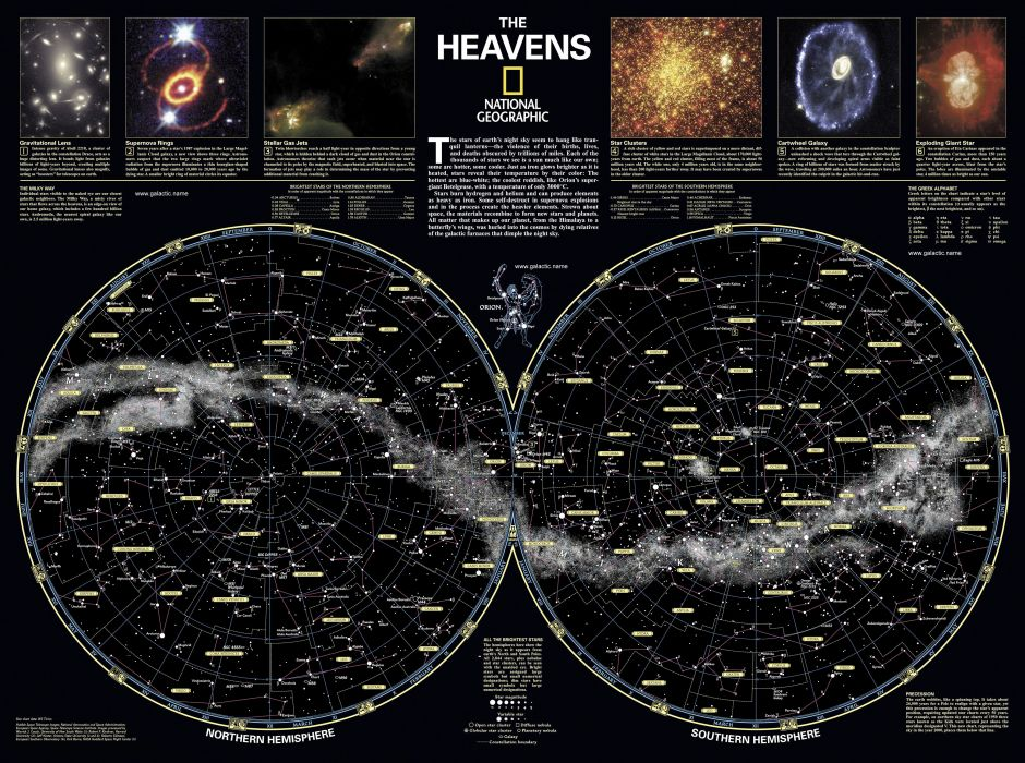 map stars wallpaper