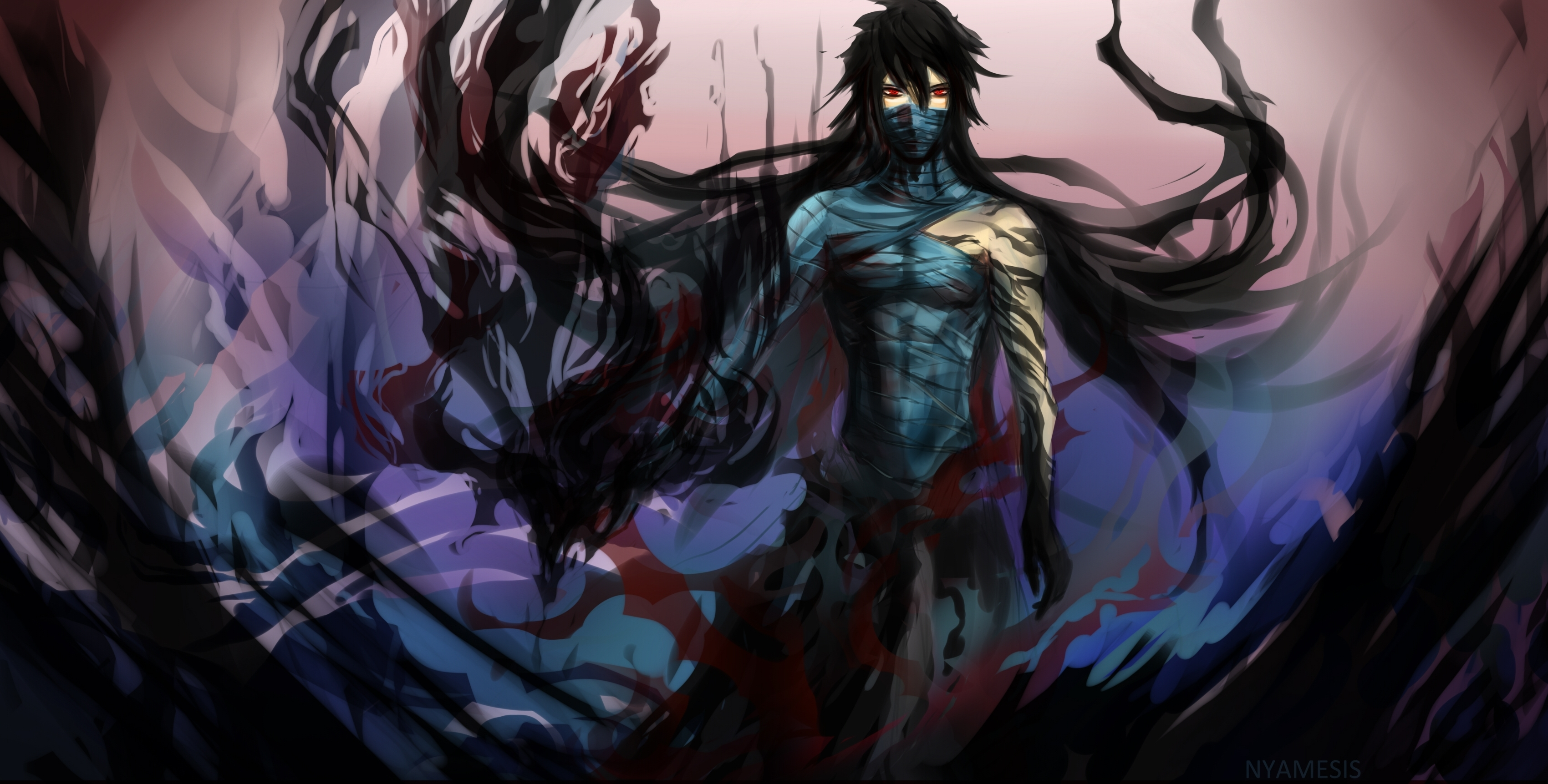 Bleach kurosaki ichigo male bandages warrior wallpaper - Anime male wallpaper hd ...