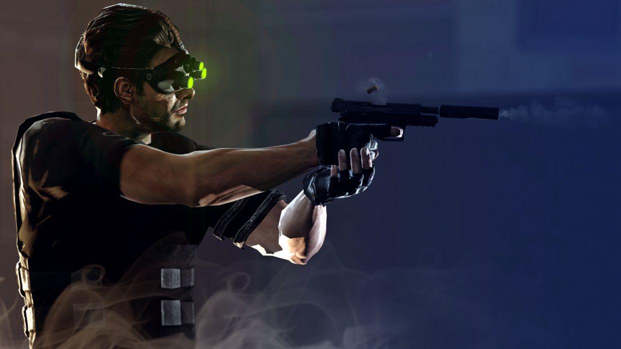 Splinter Cell Men Pistols Firing Games weapon gun warrior soldier wallpaper