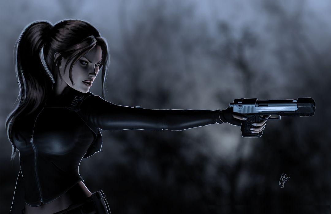 Tomb Raider Pistols Warriors Lara Croft Games Girls wallpaper