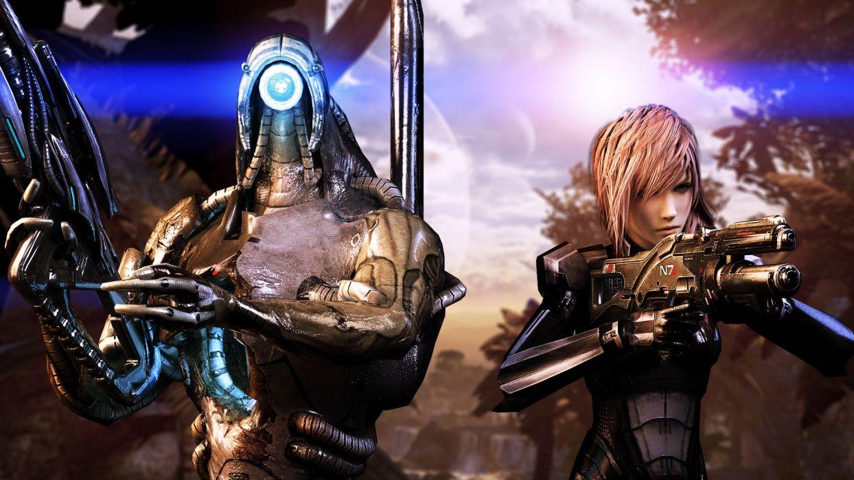 Warriors Mass Effect Final Fantasy Rifles Armor Alien Games