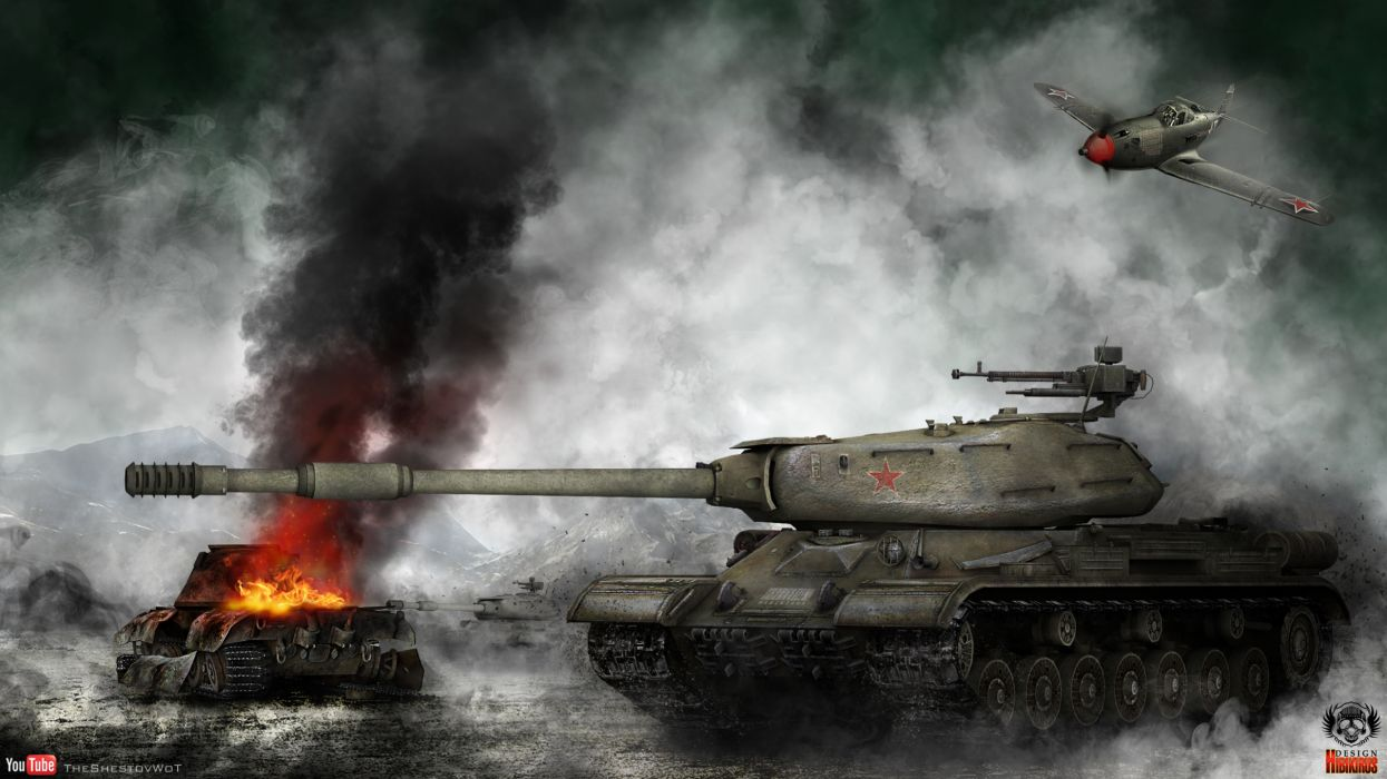 World of Tanks Tank IS-4M battle military wallpaper