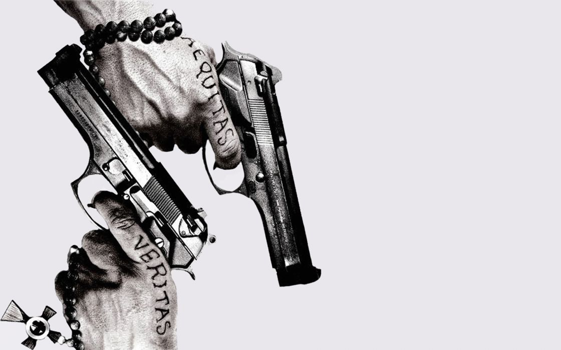 Boondock Saints weapon gun pistol dark wallpaper