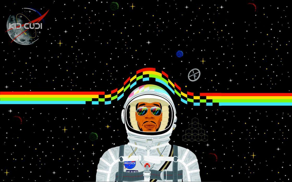 kid cudi astronaut space hip hop d-j rap wallpaper