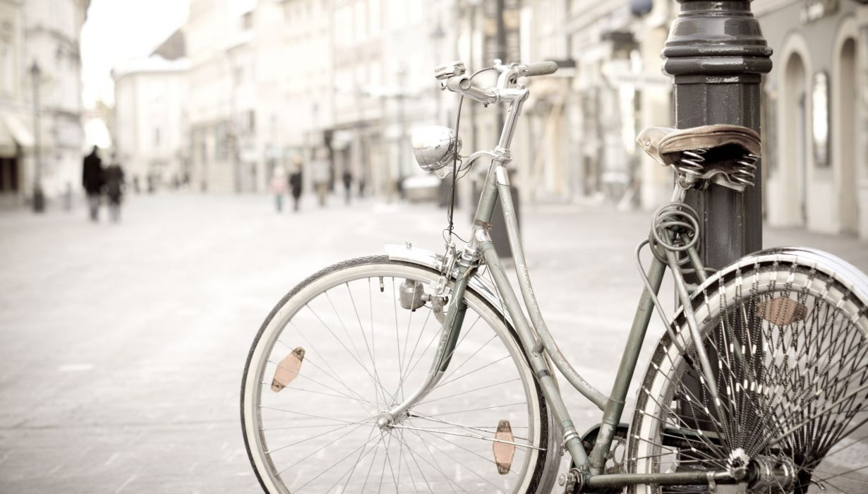 miscellaneous mood bike wheel wheels city street post bicycle wallpaper