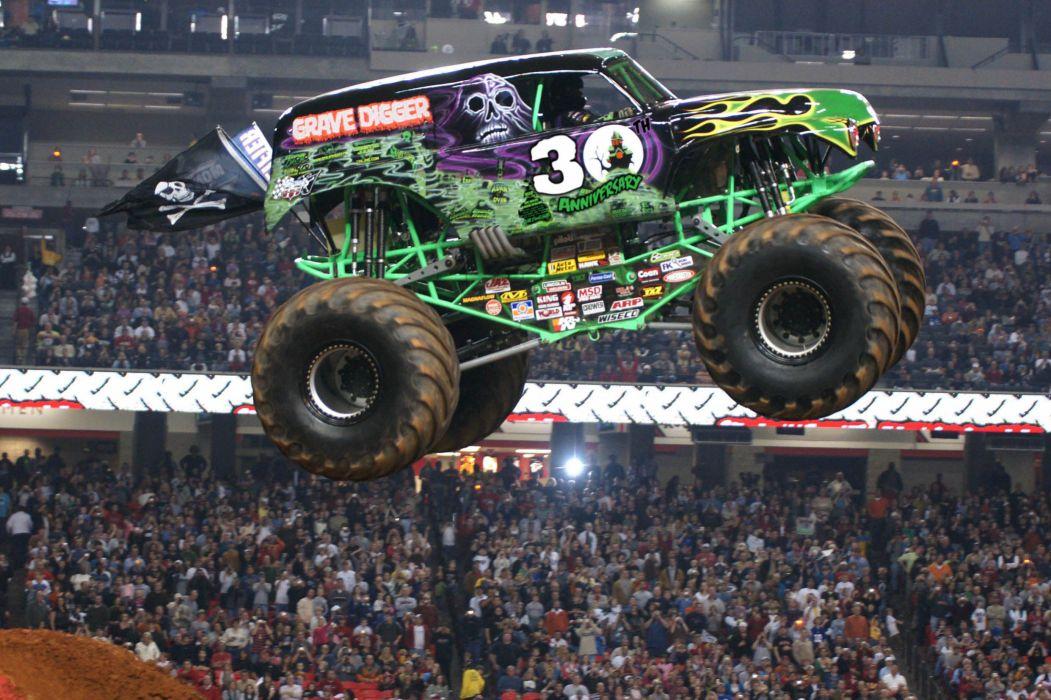 GRAVE DIGGER monster truck 4x4 race racing monster-truck      g wallpaper