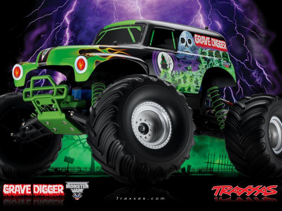 GRAVE DIGGER Monster Truck 4x4 Race Racing Lk Wallpaper