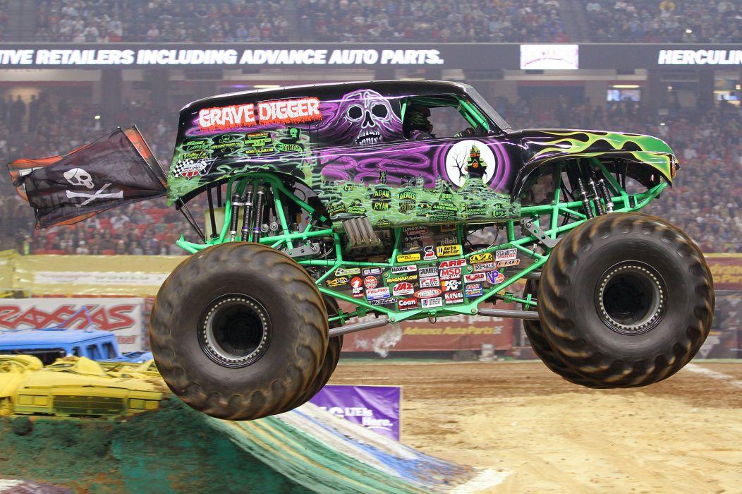 Grave Digger Monster Truck 4x4 Race Racing Monster Truck D