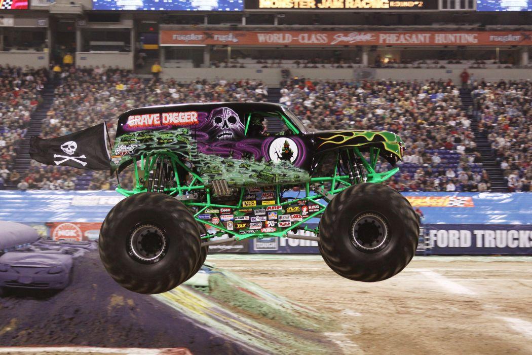 GRAVE DIGGER monster truck 4x4 race racing monster-truck  jd wallpaper