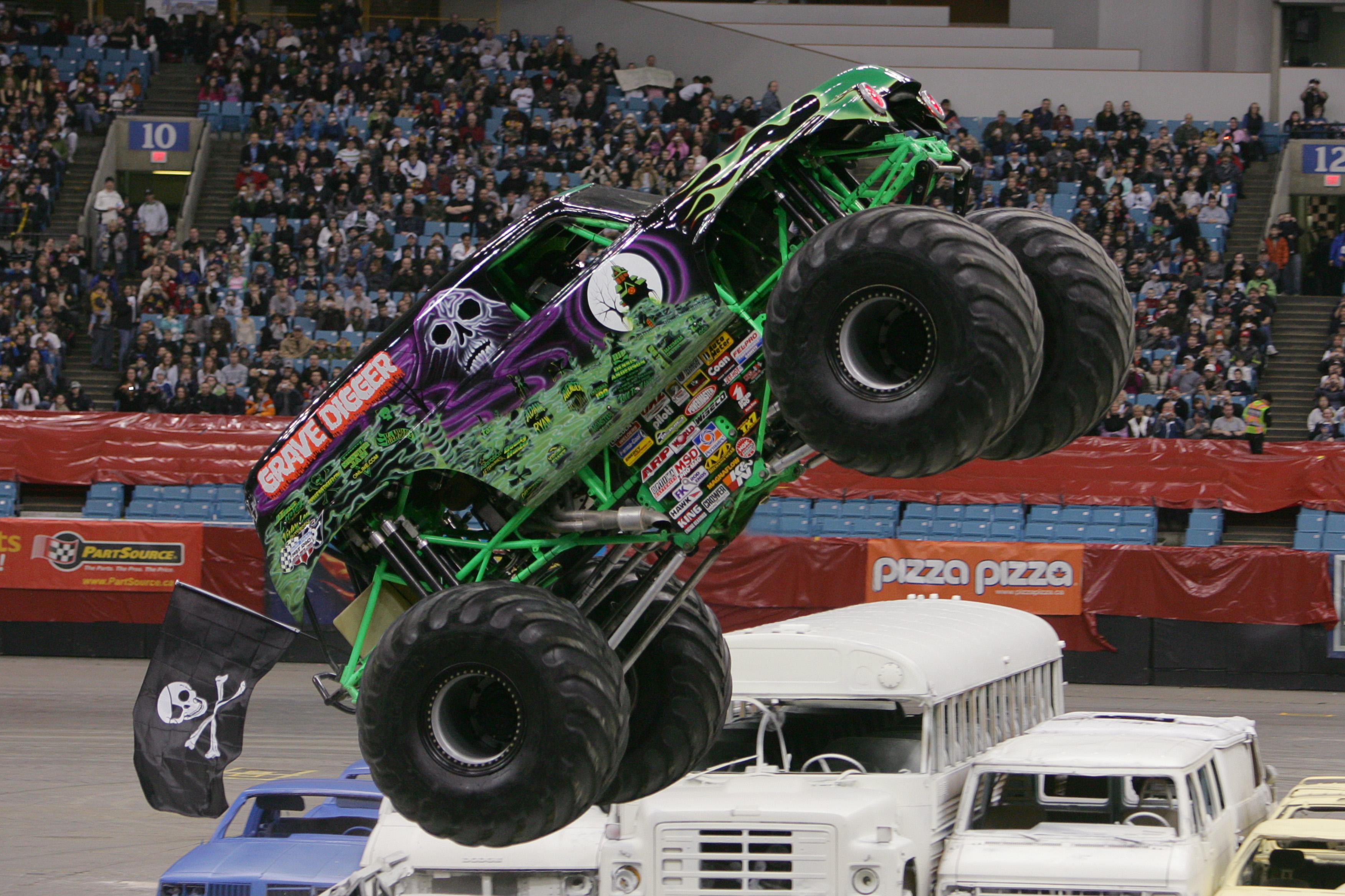 Grave digger monster truck 4x4 race racing monster truck hh wallpaper 3504x2336 136865 - Grave digger wallpaper ...
