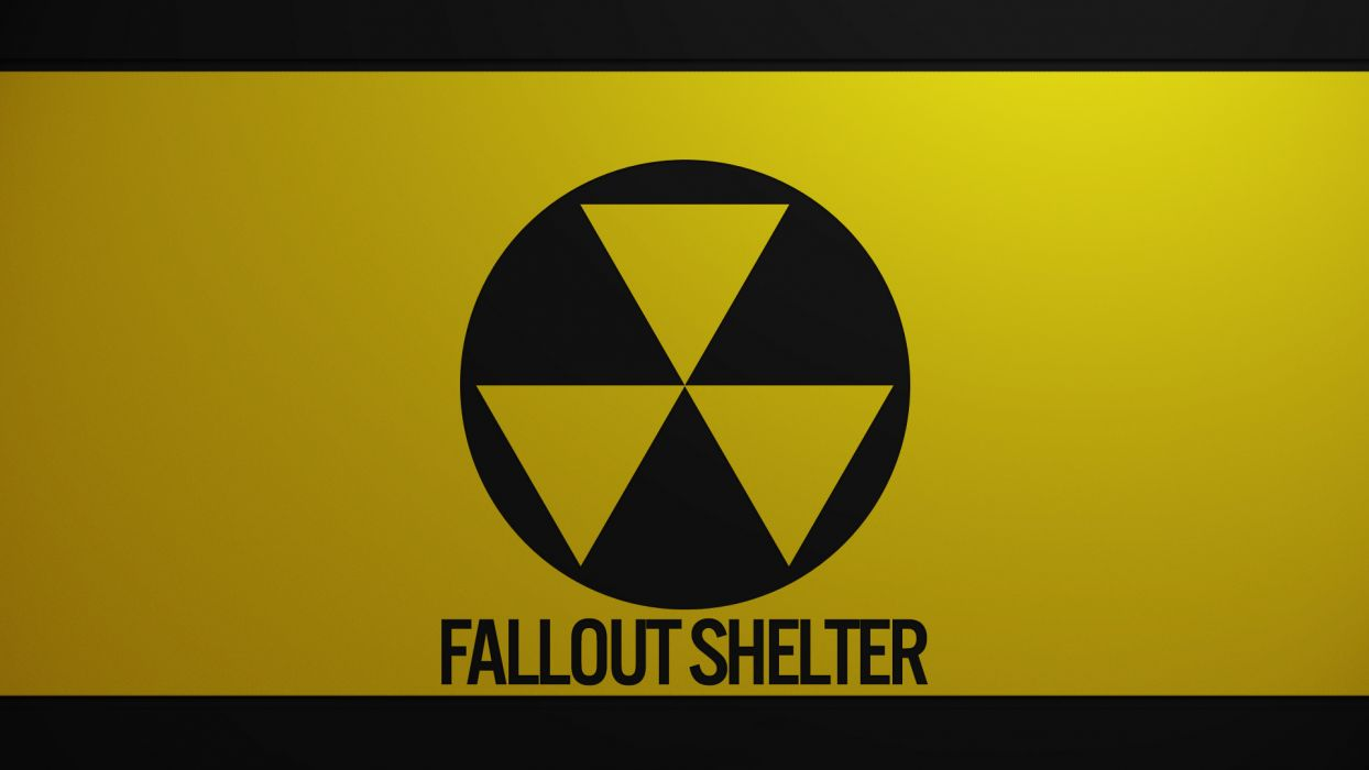Fallout Yellow nuclear radiation wallpaper