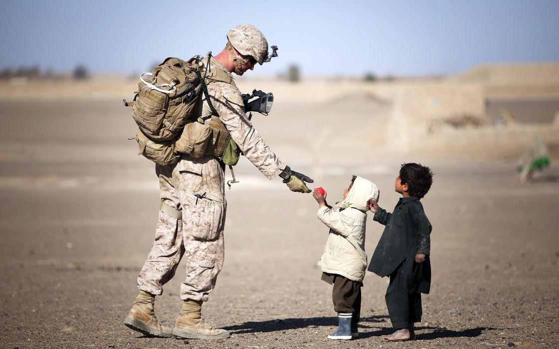 Soldiers Men Army Children mood military wallpaper