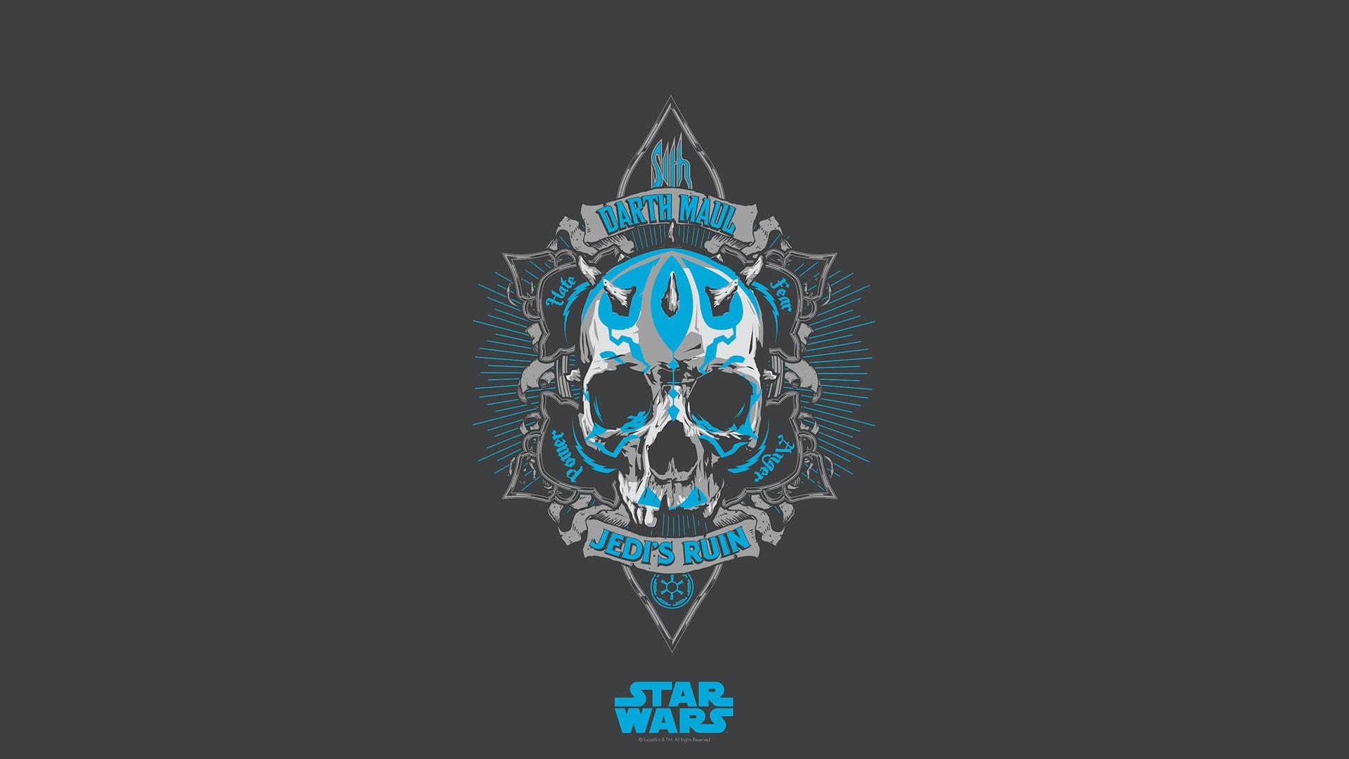 Star Wars Skull Darth Maul Wallpaper 1920x1080 136959
