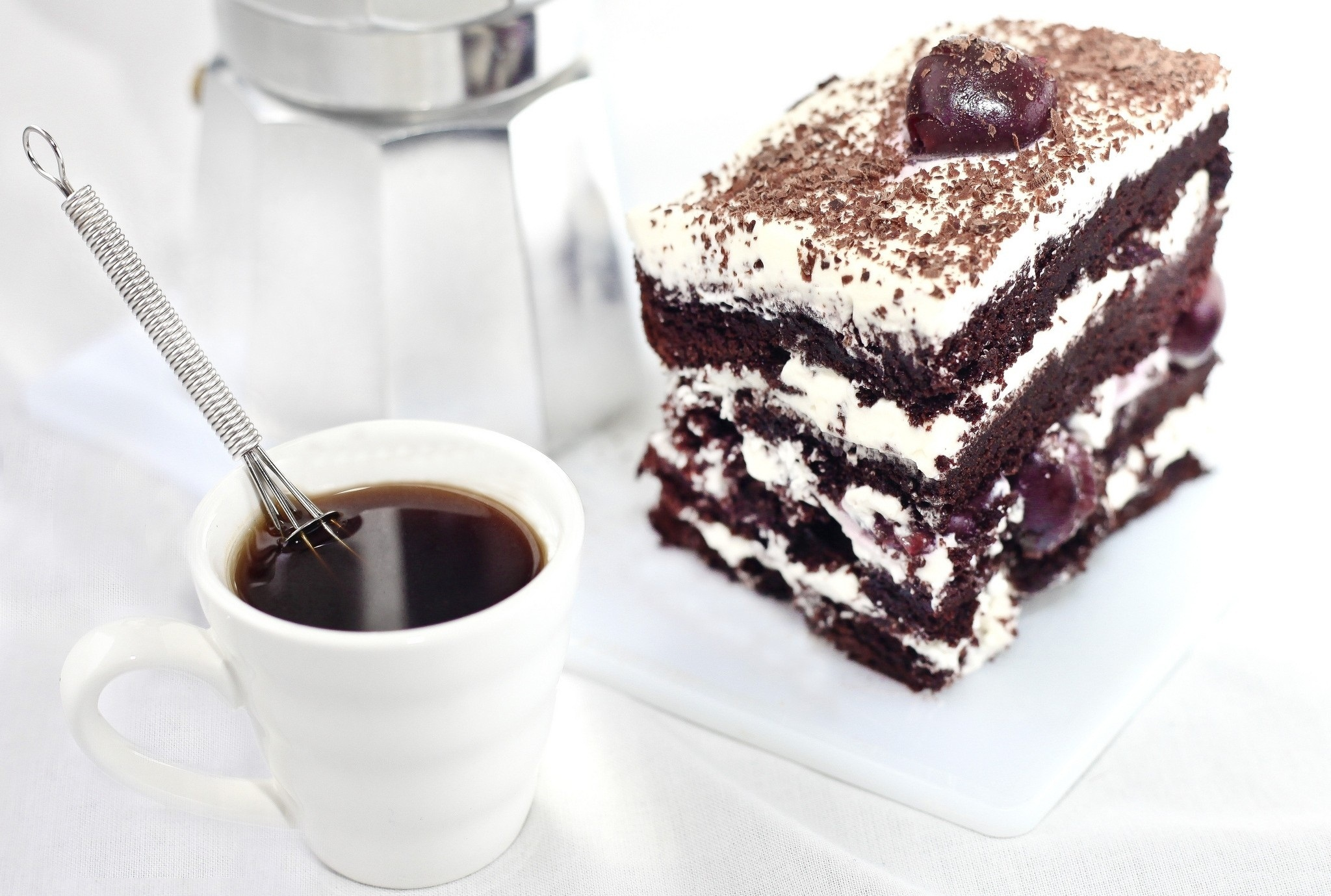 Permalink to Chocolate Cake With Cup Of Coffee In It