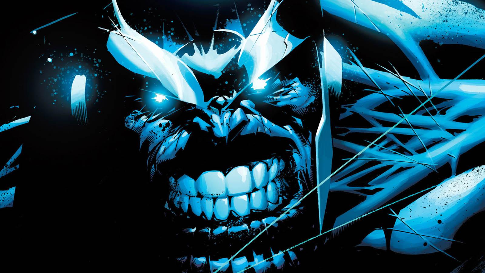 Thanos Blue Face Marvel wallpaper backgroundThanos Marvel Wallpaper
