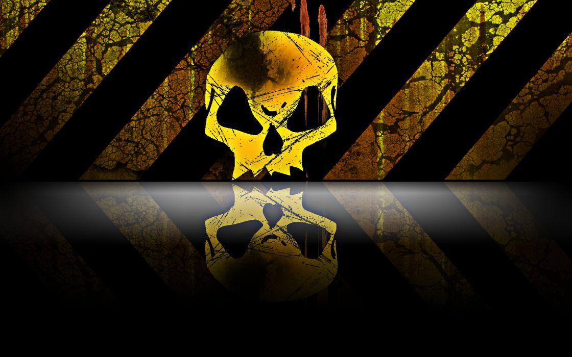 Dark skull abstract wallpaper