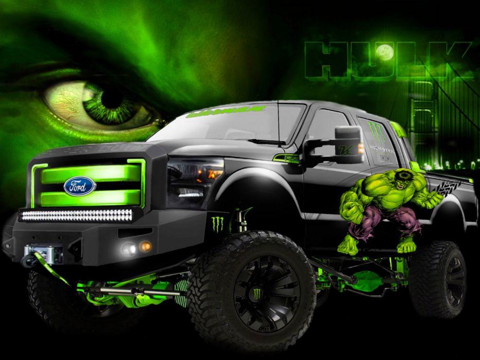 Vehicles Monster Hulk Trucks Wallpaper