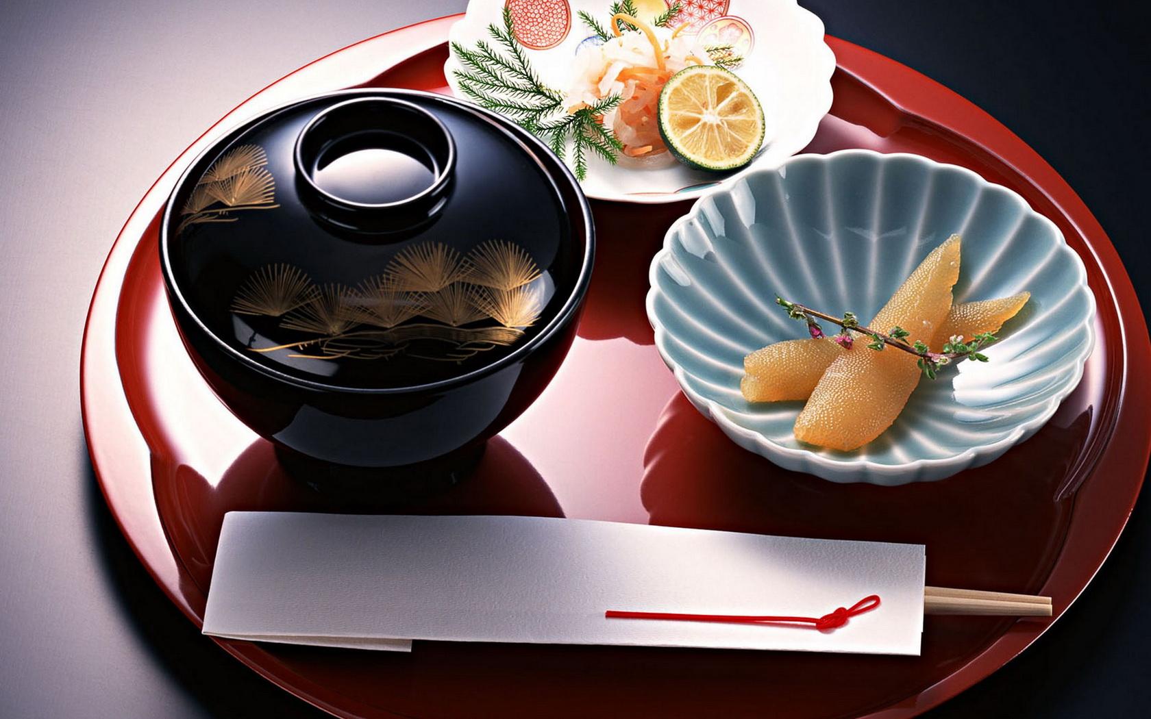 Japanese Elegant Food Wallpaper