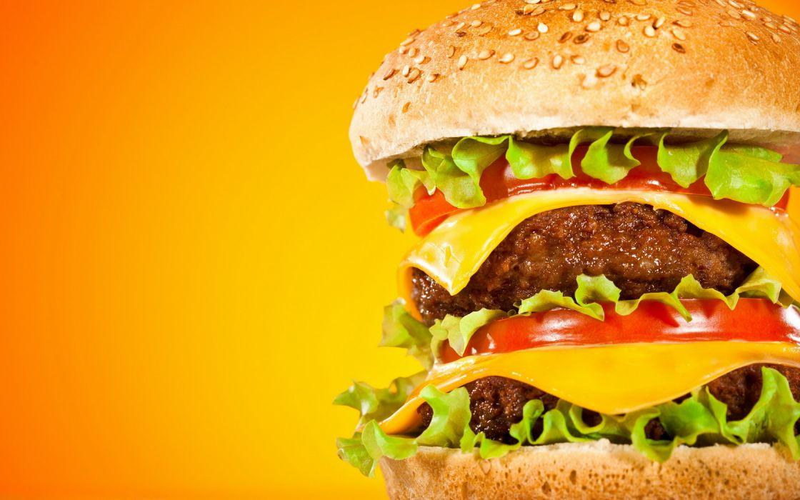 Double Hamburger wallpaper