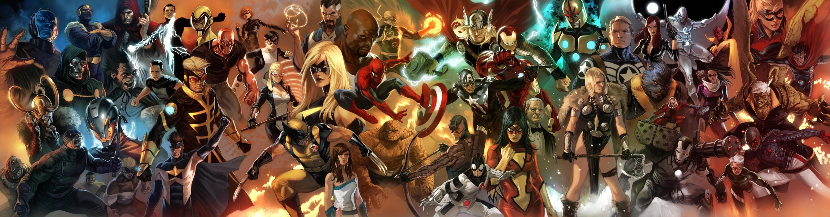 AVENGERS superhero marvel multi dual wallpaper